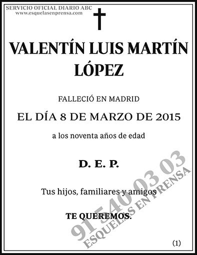Valentín Luis Martín López